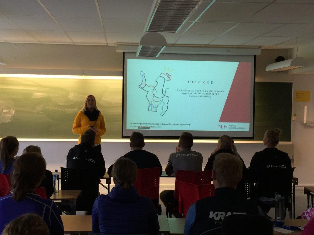 Foredraget «He's God - hvordan lykkes som instruktør?». SiNSpiration i Trondheim.