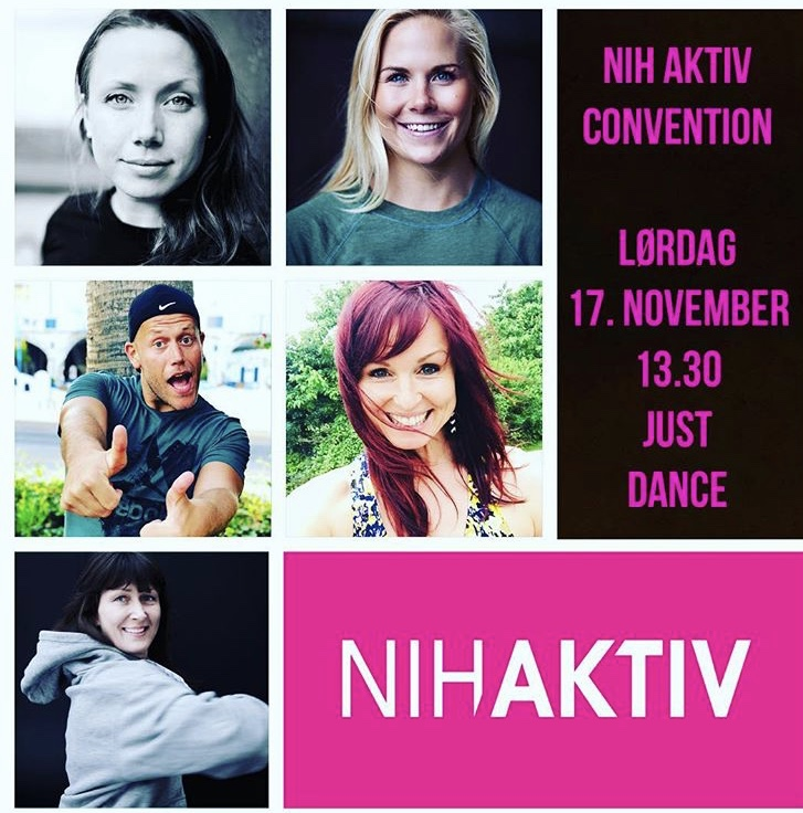Sammen med denne flotte gjengen presenterer jeg NIH Aktiv JUST DANCE ved convention i år! Håper vi sees :)
