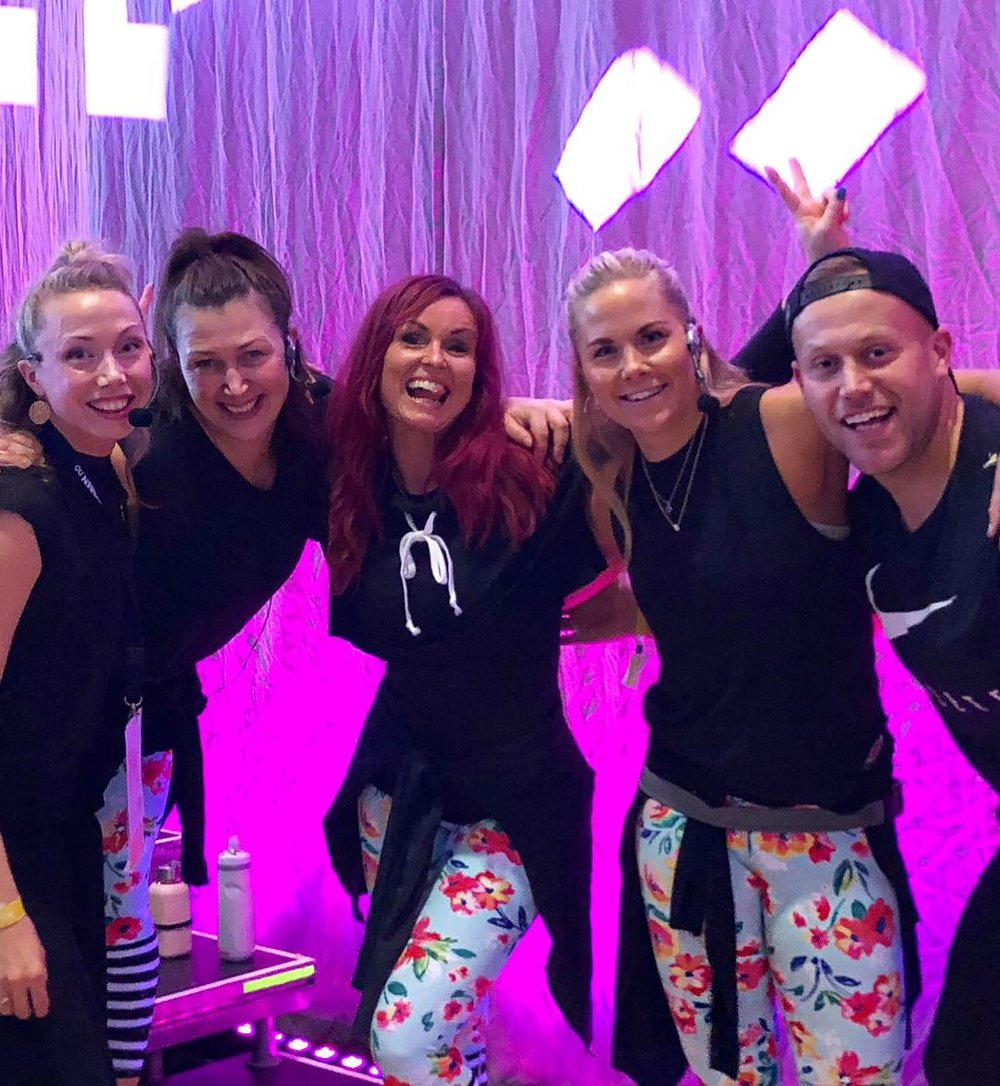 JUST DANCE team! Fra venstre: Mira Hopland, Christina Therkildsen, Lise-Lotte Herlung, EK og Sølve Sundrehagen.