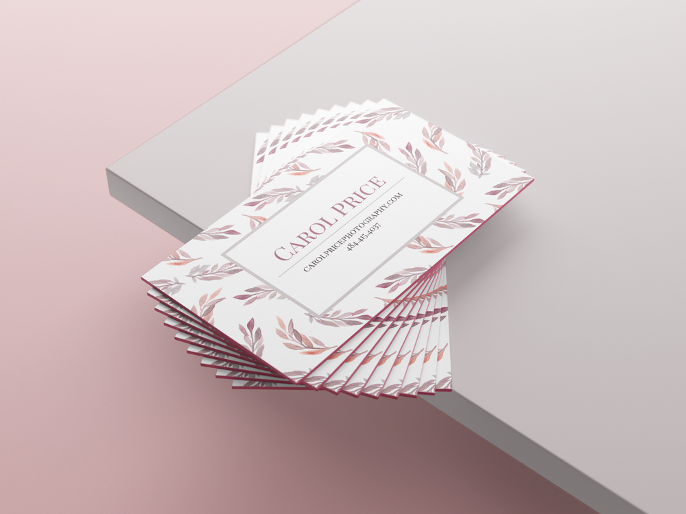 Pink Business Card Mockup 2