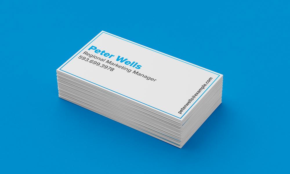 Blue Business Card Mockup 2