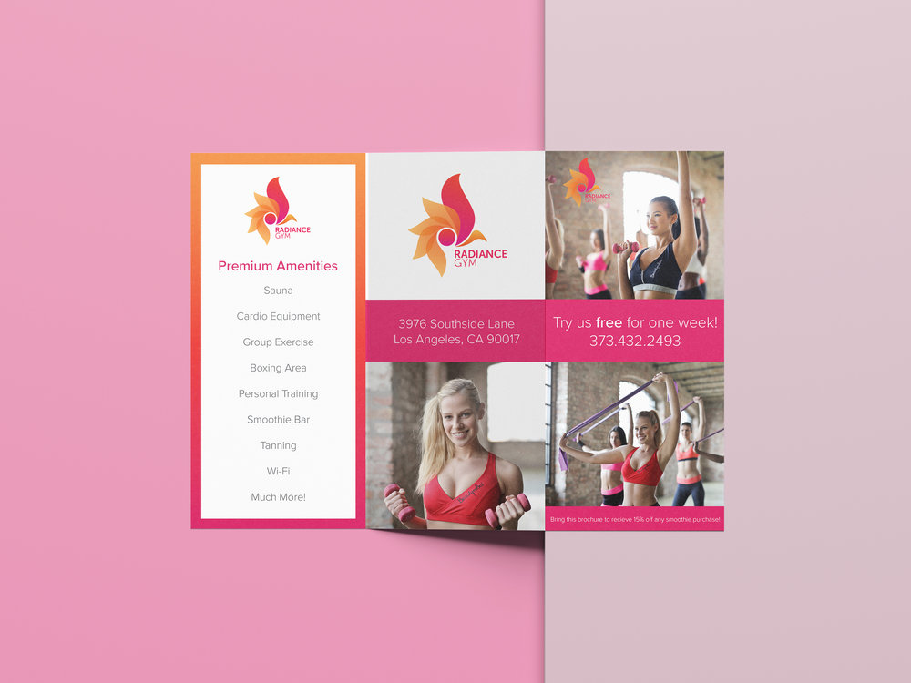 Fitness Brochure Mockup 2