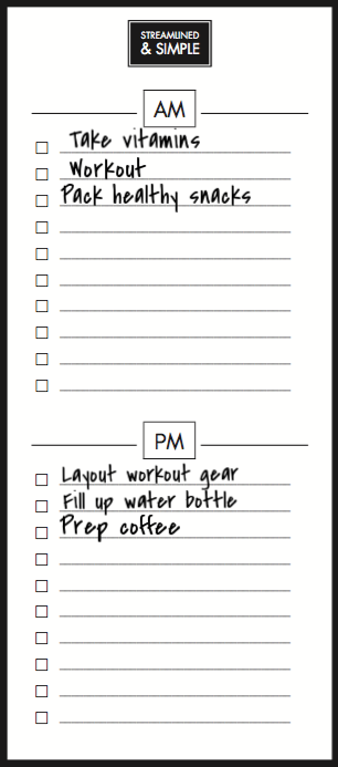 AM PM List