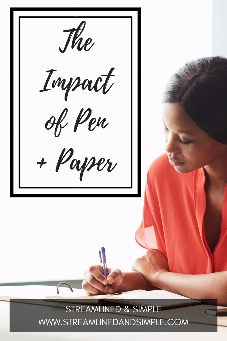 The Impact of Pen and Paper