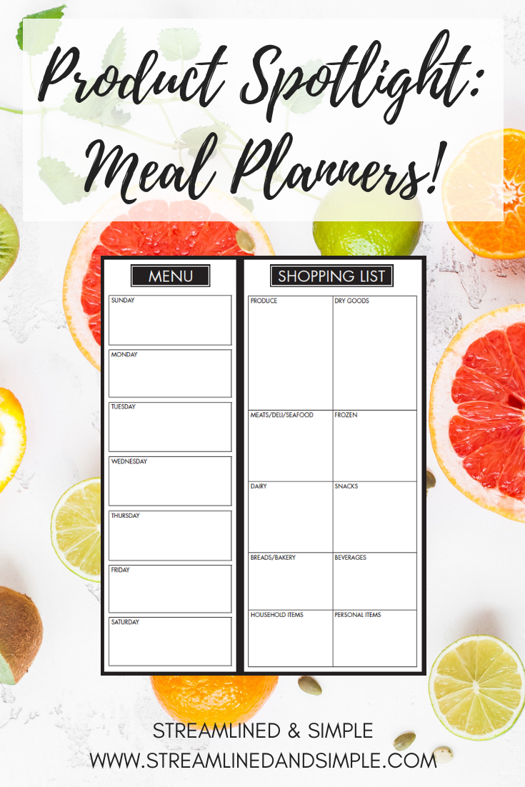 Product Spotlight: Meal Planners