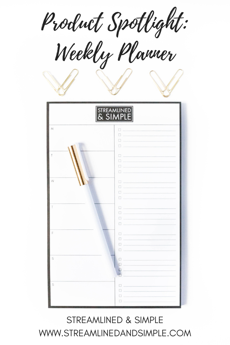 Product Spotlight: Weekly Planner