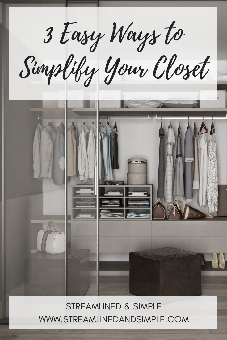 Streamlined and Simple Closet