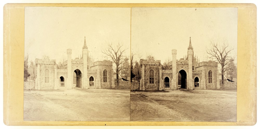 The Miriam and Ira D. Wallach Division of Art, Prints and Photographs: Photography Collection, The New York Public Library.  Entrance to Green Mount Cemetery, Baltimore.  Retrieved from  http://digitalcollections.nypl.org/items/510d47e0-6738-a3d9-e040-e00a18064a99  on September 26, 2017.