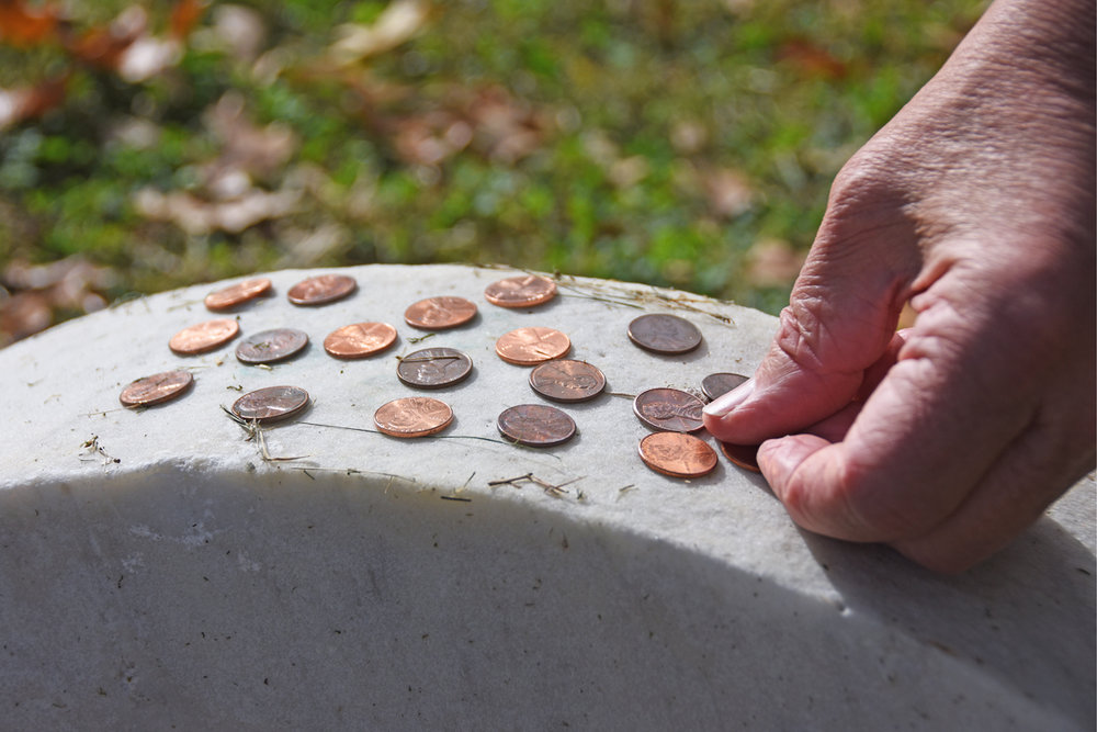 Many members of the Booth family are buried in Green Mount Cemetery, though the exact location of the remains of John Wilkes Booth are a well-kept secret. Nonetheless, many visitors leave Lincoln pennies on a blank headstone located within the plot as a small way to pay tribute to the assassinated 16th President.