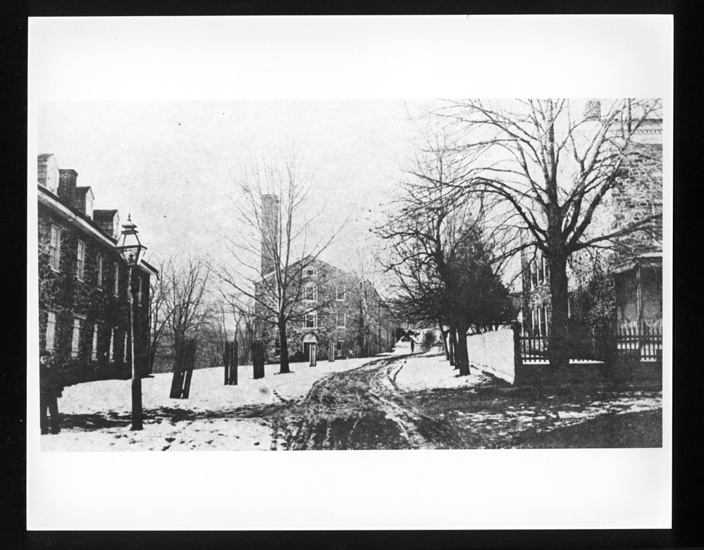 A image of Powhatan Mill and village. Photograph from  Baltimore County Public Library  archives.