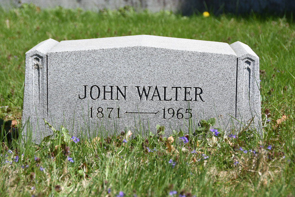 John Walter Sherwood, whose gardens have brought joy to generations of Baltimoreans, is buried in a simple plot in Druid Ridge Cemetery.
