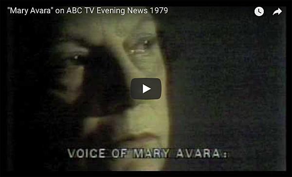 "Mary Avara"" on ABC TV Evening News 1979    SEE PHOTOS AND MORE VIDEO CLIPS OF MARY AVARA:  THE GRANDMOTHER WHO FOUGHT PORN: MARY AVARA, MARYLAND HISTORICAL SOCIETY NEWSLETTER: UNDERBELLY, APRIL 24, 2014"