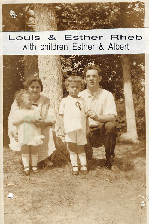 Louis and Esther Rheb, with their children Esther and Albert