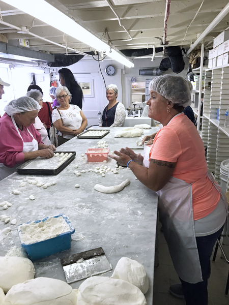 Rheb's employees make candy in the same way as Louis and Esther did over 100 years ago. Photo was taken during a recent tour sponsored by  Baltimore Heritage . Photo by Dick Berglund.