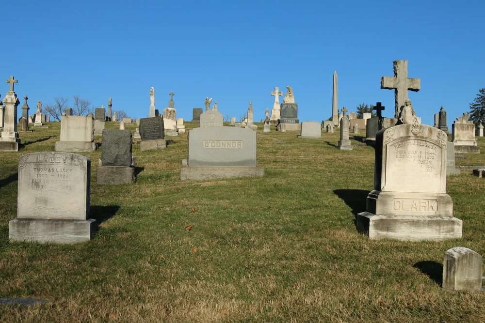 Original location of Louis Sabatino's grave, New Cathedral Cemetery, Section SS, Lot 457