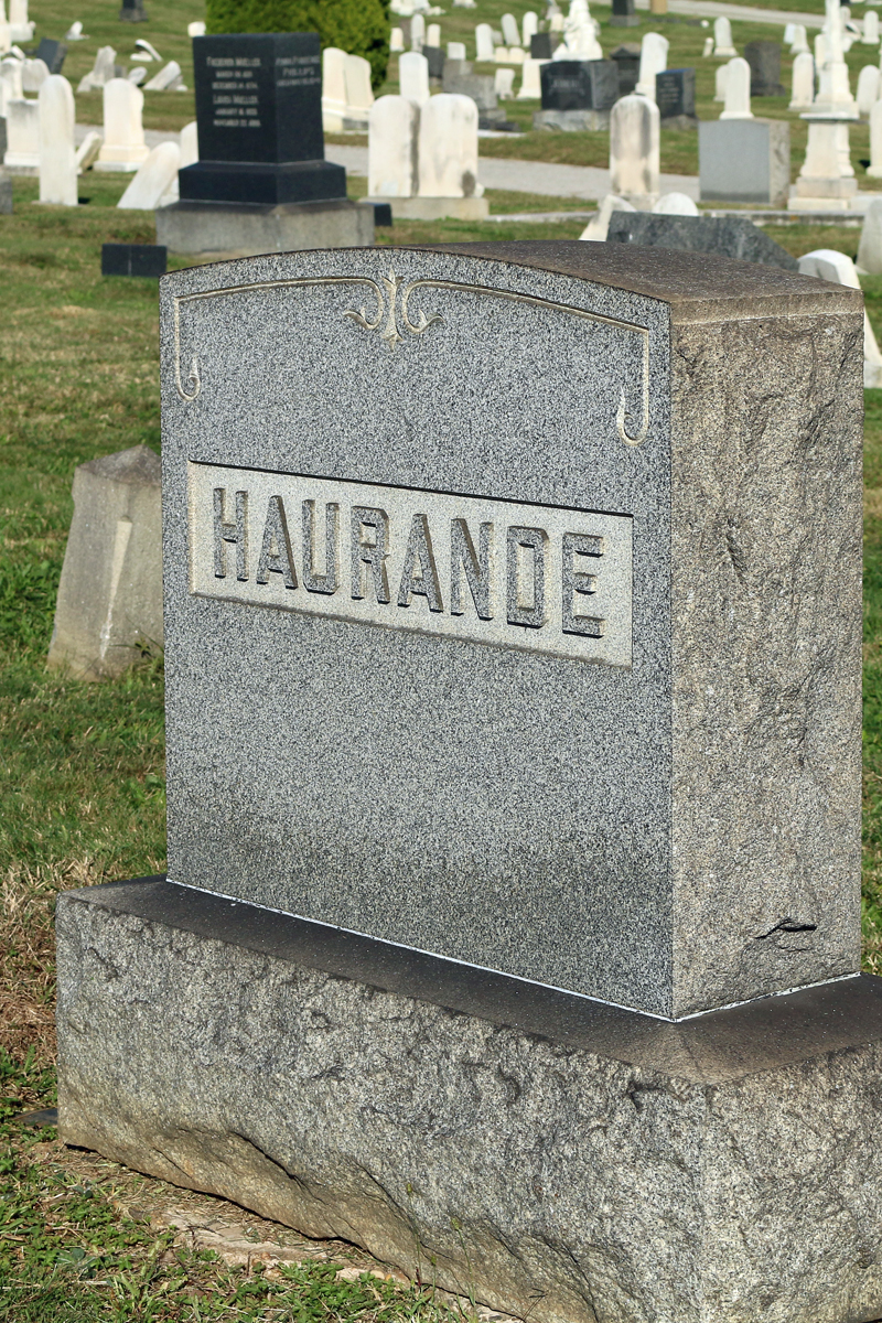 William Haurande, a 14-year-old Baltimore Sun newsboy, was an innocent bystander of The Railroad Strike of 1877, and was killed by a minie ball in the melee.