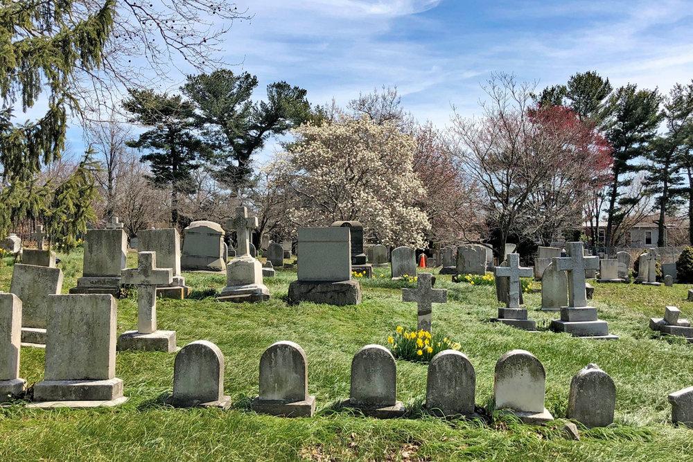 Springtime in St. John's Episcopal Church Cemetery