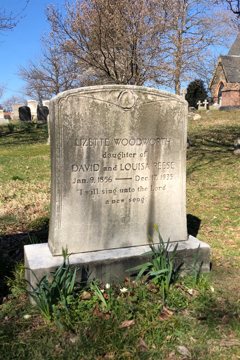 small gravestone Lizette Reese.jpg