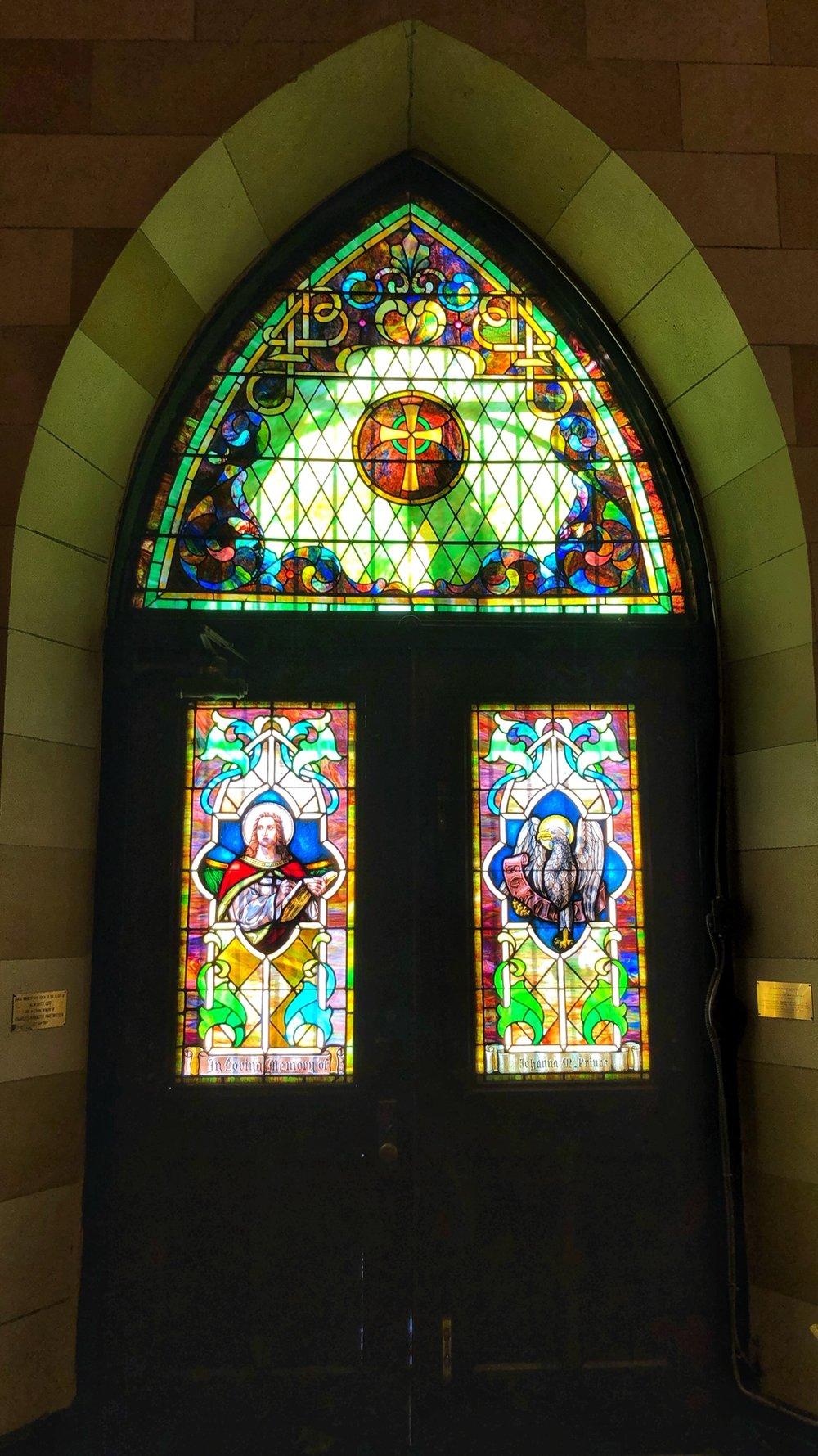 Inside St. John's Episcopal Church at 3009 Greenmount Avenue