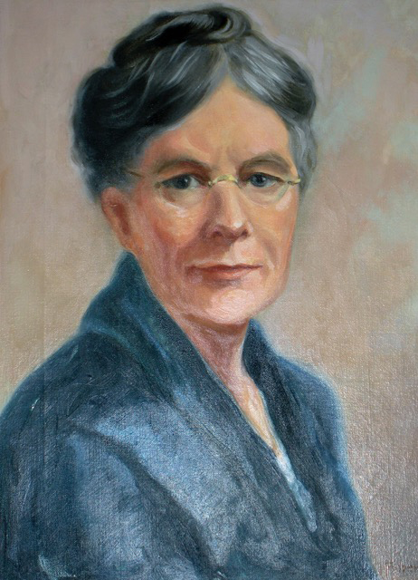 Lizette Woodward Reese in a painting by Florence Keefer