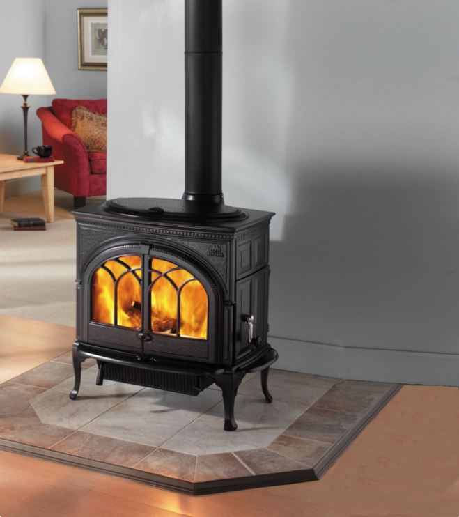 A warm, wonderful centerpiece for your hearth and home. This furniture quality  cast iron  wood stove is the largest non-catalytic cast iron woodstove in the world. Durably built and superbly crafted, the Jøtul F 600 Firelight CB offers both front and side loading convenience in a classic design inspired by colonial American furniture.