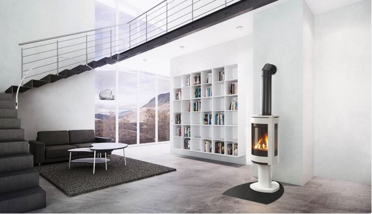"This Jøtul GF 370 DV utilizes modern design and the new JøtulBurner III to create an exceptional fire view from any angle. Based on the award winning Jøtul F 370 woodstove, the Jøtul GF 370 DV offers the same contemporary cast iron styling in a freestanding direct vent stove. Loaded with standard features including accent lighting, variable speed blower and energy saving ignition system, the Jøtul GF 370 DV is the perfect combination of design and craftmanship. The Jøtul F 370 Concept has received a number of design awards such as the Norwegian ""Award for Design Excellence"" and the prestigious ""red dot award – best of the best""."