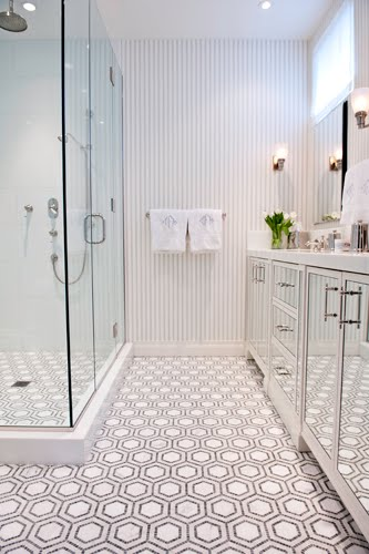 bathroom hexagon penny round tiles