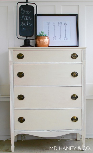 I Kept The Original Brass Hardware And Painted This Dresser With 3 Coats Of Miss Mustard Seed Milk Paint MARZIPAN Sweet Trim Pieces