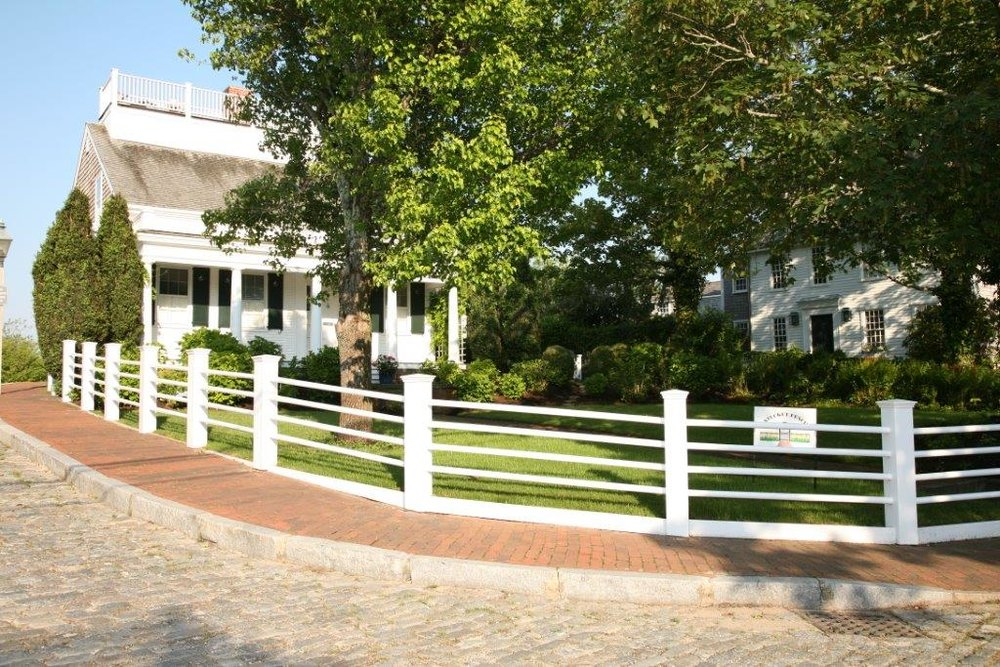 White residential fencing