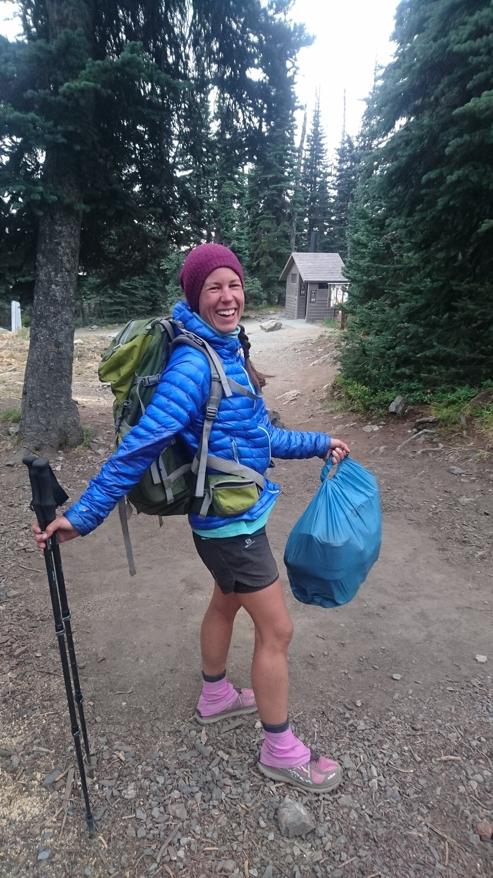 My pack slimmed down to almost nothing. Thata girl!