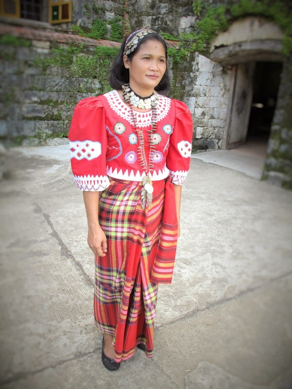 "Regina ""Ambing"" Villanueva in traditional Panay Bukidnon attire / Photo: Roel Hoang Manipon"