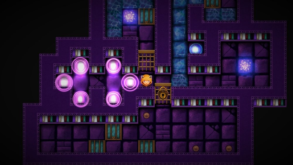 Each purple light is a level that Violet must be in order to wake up