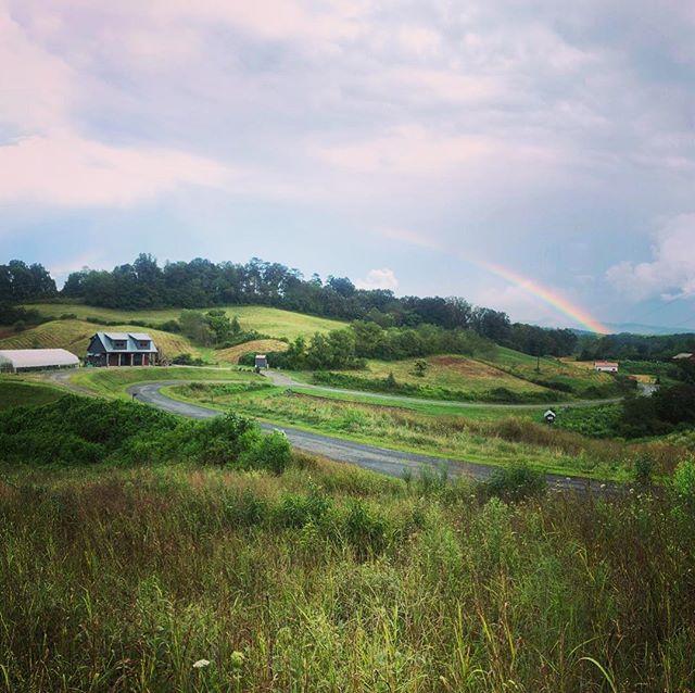 Rainbow over Olivette Farm by #osadaconstruction #rainbowsend #olivettefarm