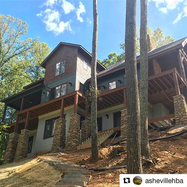 Can't wait for everyone to see this amazing @redtreebuilders home in Olivette during the 2018 Parade of Homes! Thanks to @ashevillehba for the beautiful shot! #paradeofhomes #asheville #ashevillehba #olivettelife