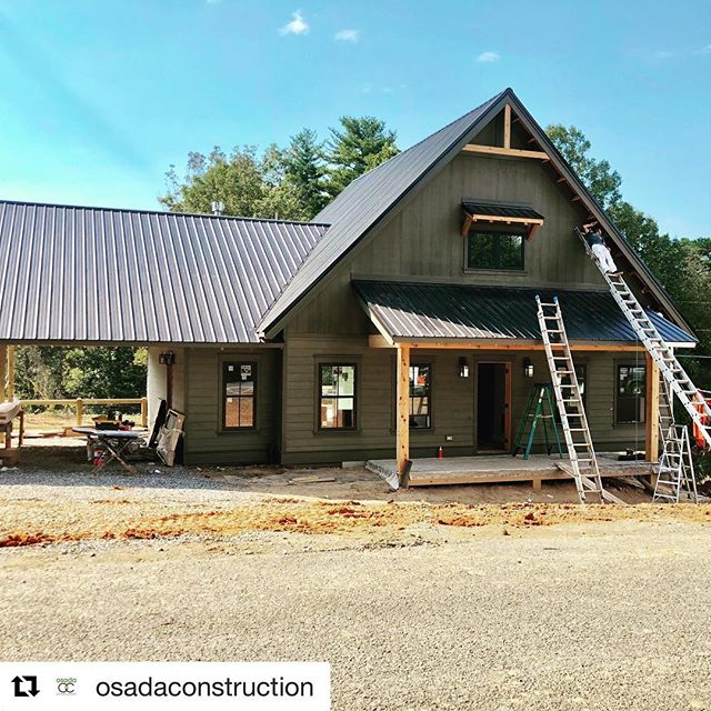 #Repost @osadaconstruction with @get_repost ・・・ Getting closer with our modern farmhouse model home in Olivette! It will be on display for the parade of homes October 13 14th and 20-21. @olivetteasheville @shamburgerarchitecture @ashevillelifestyle @ashevillehba