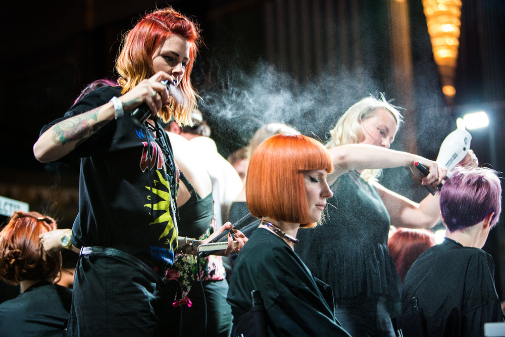 Raw Salon Live at the Apollo L'Oreal Colour Trophy - Shot by James Gregory