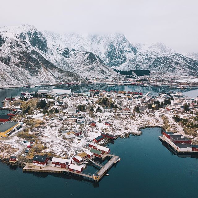 After 38 hours of transit time I've arrived in the arctic circle. Here's a shot of the village I'm staying in. Population 818.