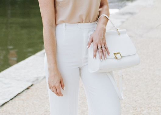 HIGH WAIST WIDE LEG PANTS - WHITE ALL YEAR ROUND