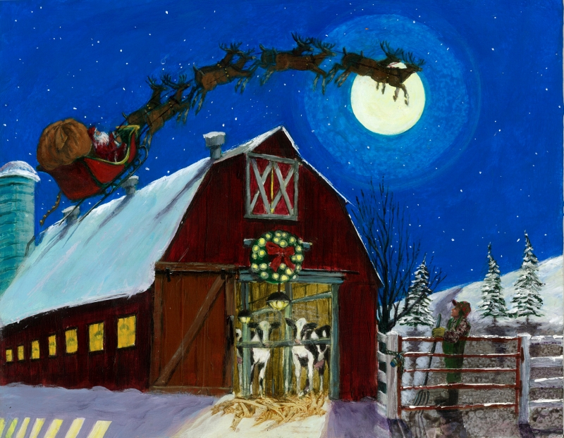 Sleigh Bells over the Farm