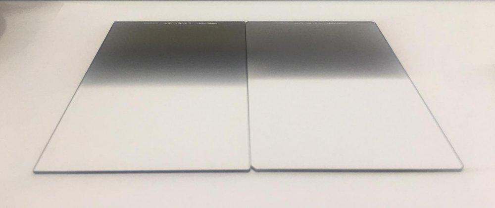 Comparison between a Haida 3 Stop graduated neutral density filter (Left) and a Haida 2 stop graduated neutral density filter (Right).