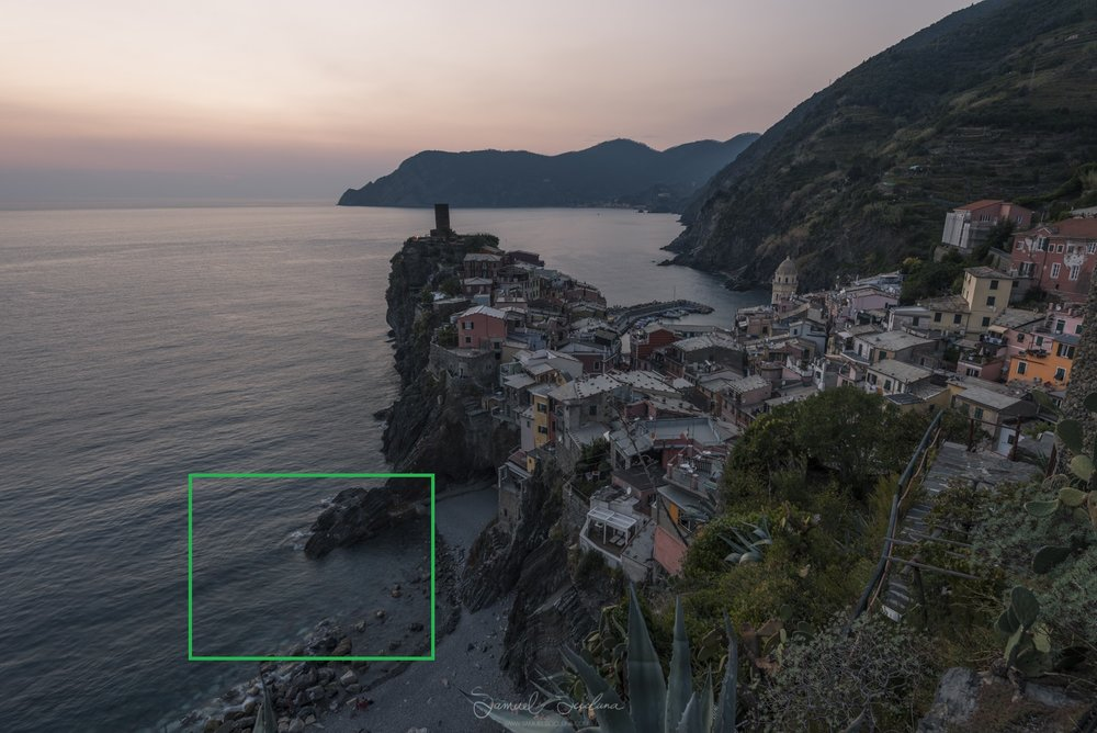 Sunset at Vernazza - EXIF 0.5 of a second, ISO64 at F8