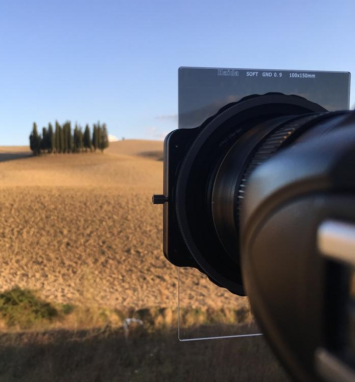 Shooting the famous cypress trees in Tuscany with the Haida 3 stop soft grad filter