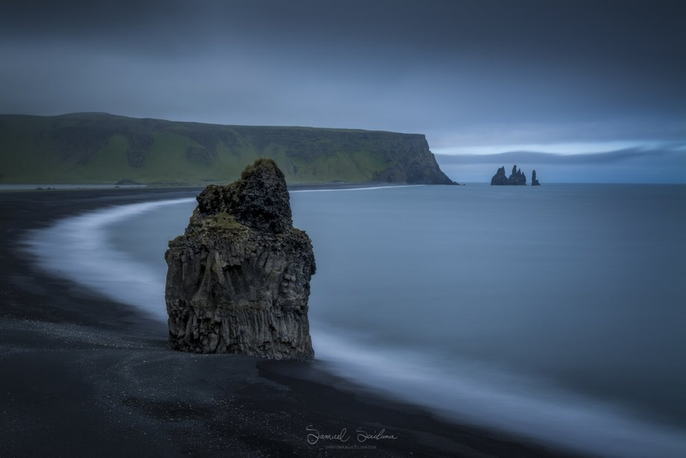 The Arnardrangur sea stack near Dyrhólaey in Iceland.