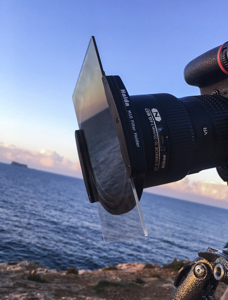 The M10 mounted on my Nikon 16-35 Lens. I was shooting with the new drop in 10 Stop filter and a 3 stop ND Soft Grad to darker the sky.