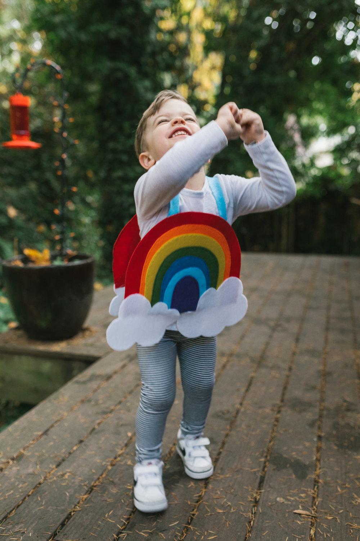 Rainbow, homemade costume, Halloween