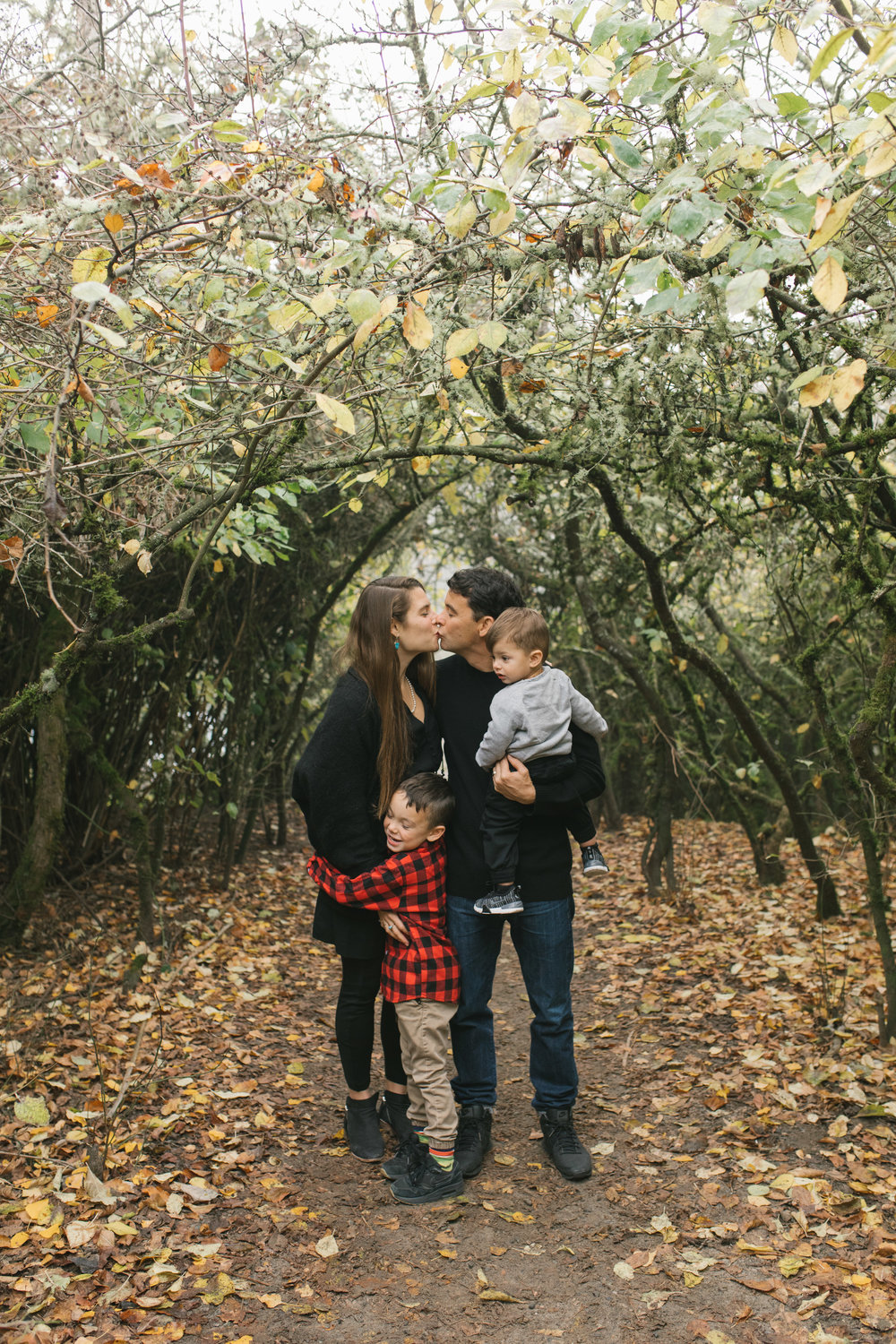 Leaf Throwing sweet Seattle Discovery Park Family Photo Session during golden hour by Chelsea Macor Photography-2.jpg