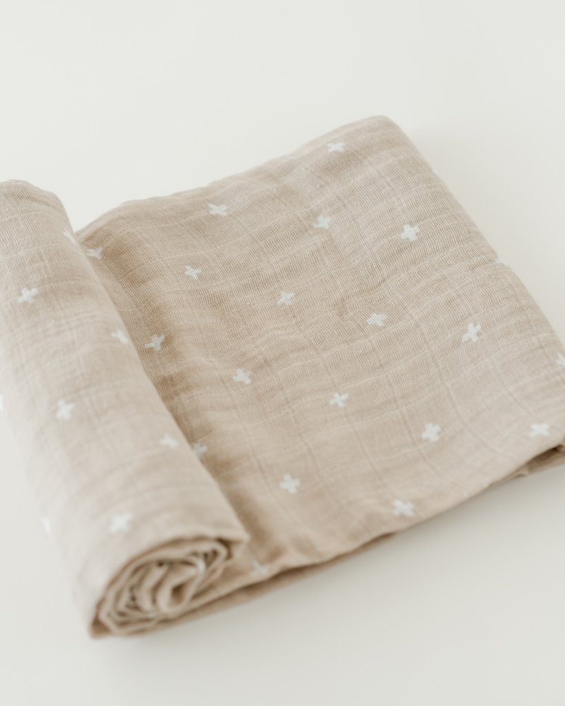 Taupe Cross Swaddle