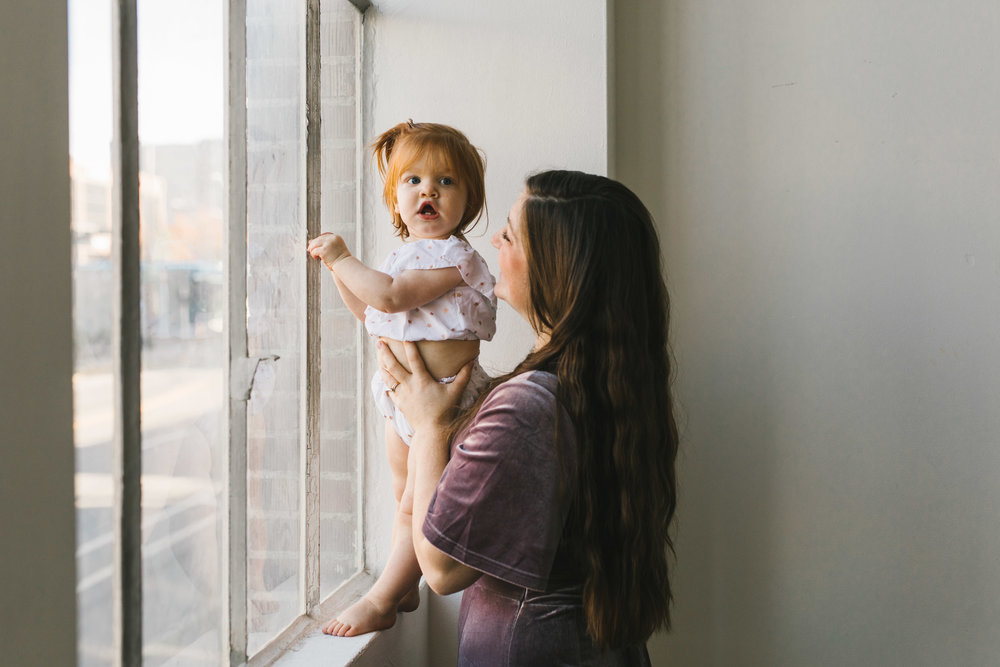 A Sweet and Bright Motherhood Session in a Seattle Studio by Chelsea Macor Photography