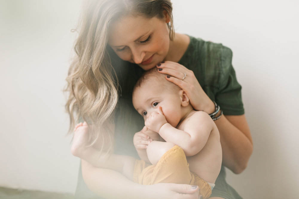 A Mother and Child Seattle Studio Session with a little magic and glowing light by Seattle Family Photographer Chelsea Macor Photographer