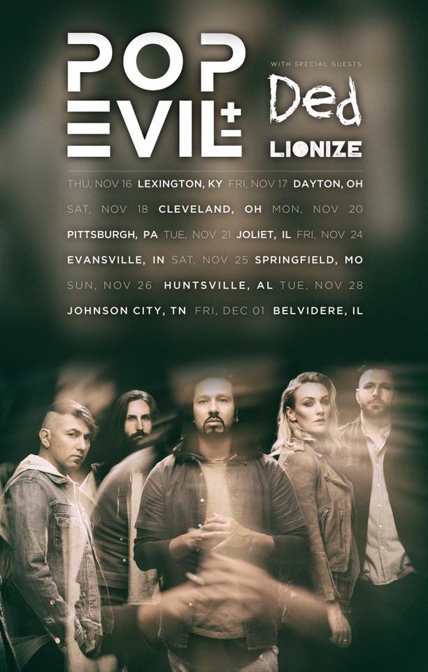 pop evil - ded tour poster